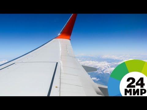 Пассажир снял на видео крушение самолета - МИР 24