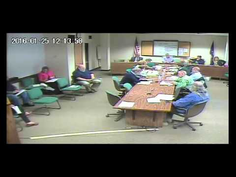 Public Works Committee January 25, 2016