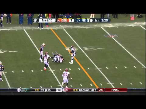 TJ Ward wrap-up tackle on Gronk