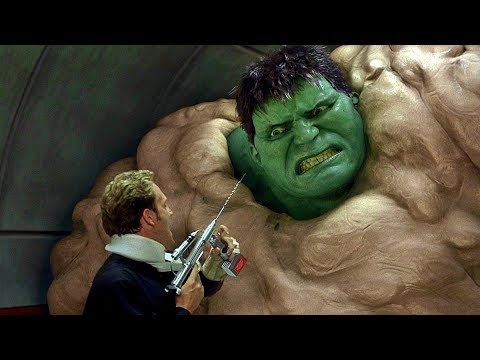 Hulk Escapes Military Base - Hulk Smash Scene - Hulk (2003)