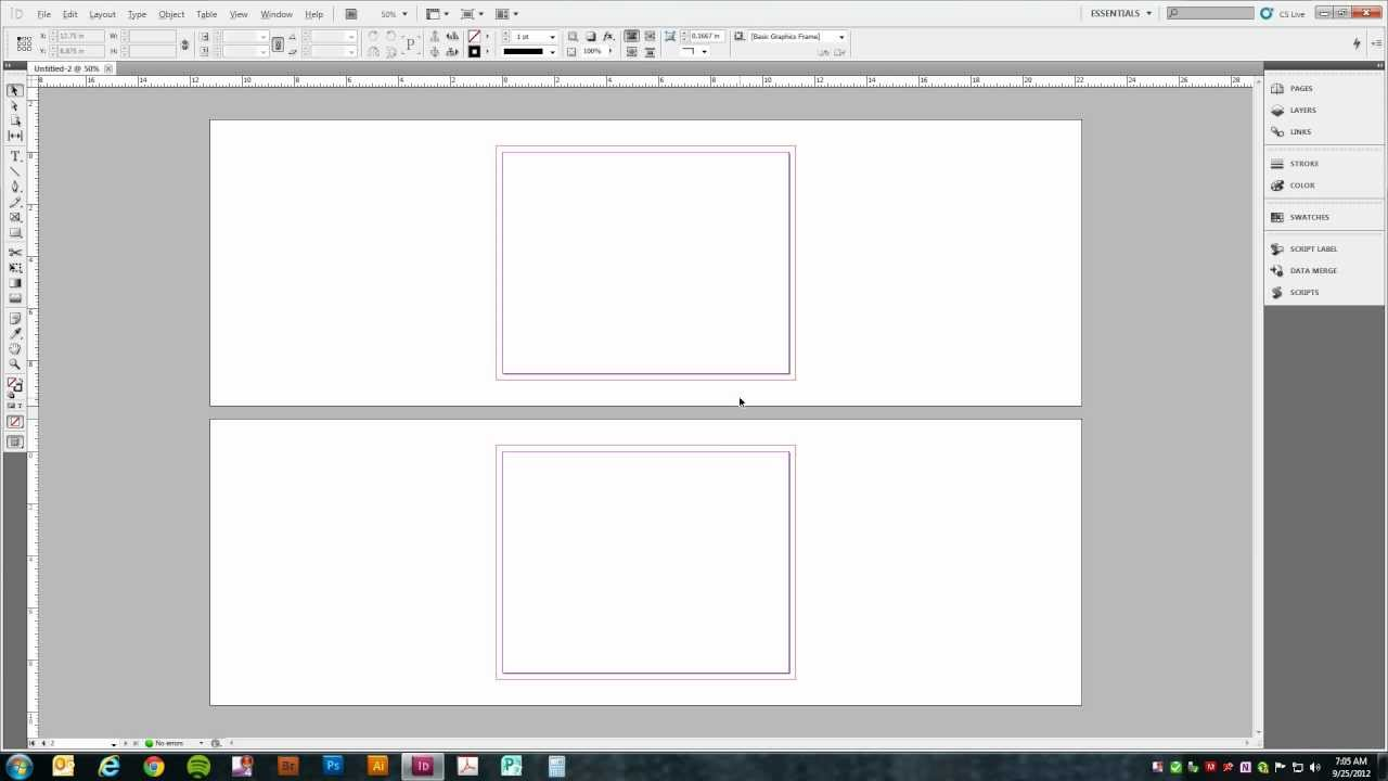 setting up a trifold brochure in adobe indesign cs5 youtube