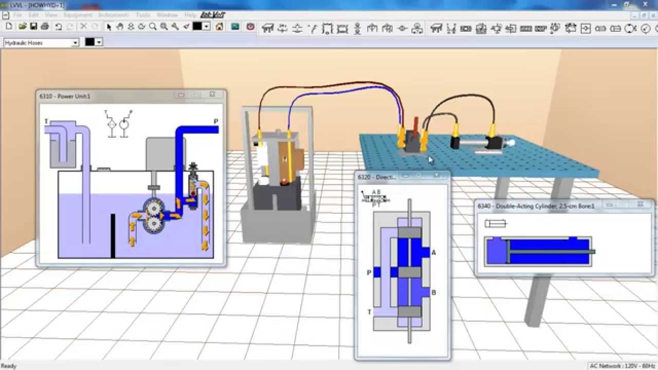 How Hydraulic System Worksexplained With The Help Of Cut View Animation Simple Diagram Circuit Basic Youtube