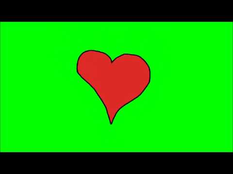 Green Screen Cartoon Heart Beating Animated Royalty Free Video