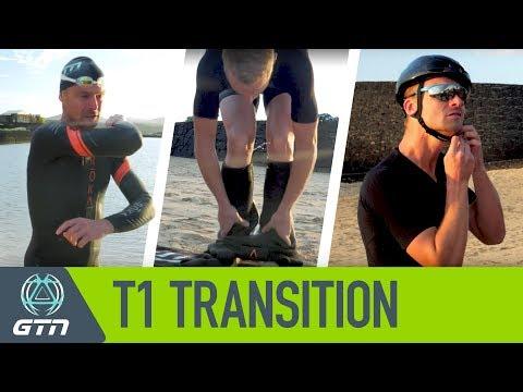T1 Triathlon Transition   How To Go From Swim To Bike