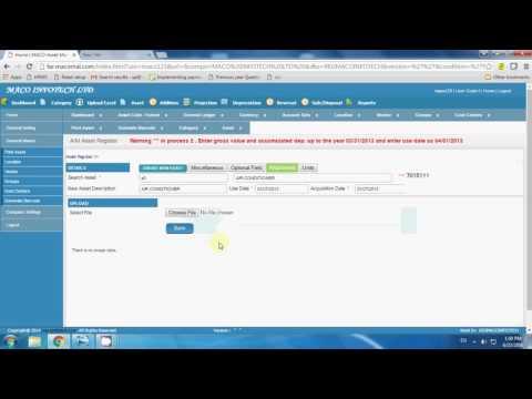 Asset Management & Depreciation Calculation Software - Maco Infotech