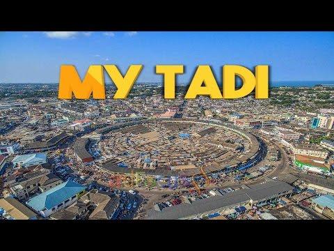 View over Takoradi Central: Market Circle