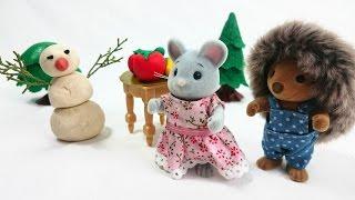 Лепим из пластилина с детьми: как сделать снеговика - развивающее видео с игрушками Village Story(Новогодние мультфильмы, украшение елочки - что еще может создать малышу праздничное настроение? Конечно,..., 2014-12-24T12:05:49.000Z)