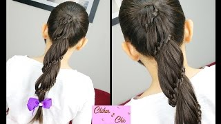 Spiral / Carousel braid | Braided Hairstyles | Ponytail