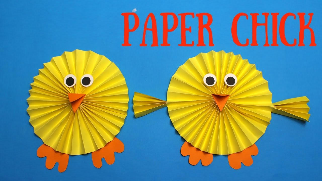 How To Make A Paper Chick Easy Easter Crafts For Kids Youtube