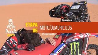 Dakar 2020 - Etapa 6 (Ha'il / Riyadh) - Resumen Moto/Quadriciclos