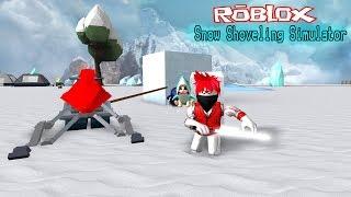 Roblox : Snow Shoveling Simulator #5 วิธีการหาเงินกับน้ำแข็งก้อน