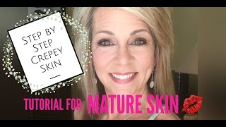 Makeup For Mature Eyes and Skin   Full Face Tutorial
