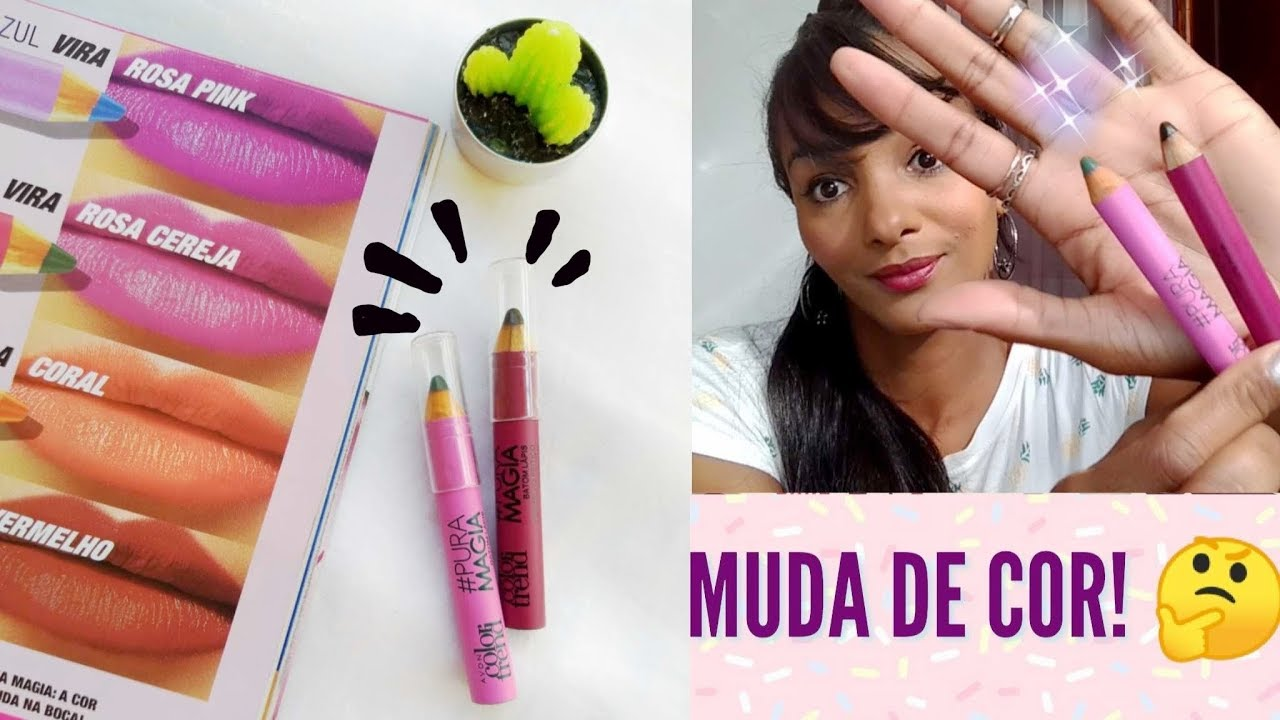 Batom lápis #puramagia Color Trend Avon | Muda de Cor ????