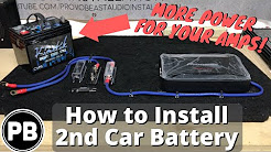 How To Install a Second Car Audio Battery In Your Vehicle!