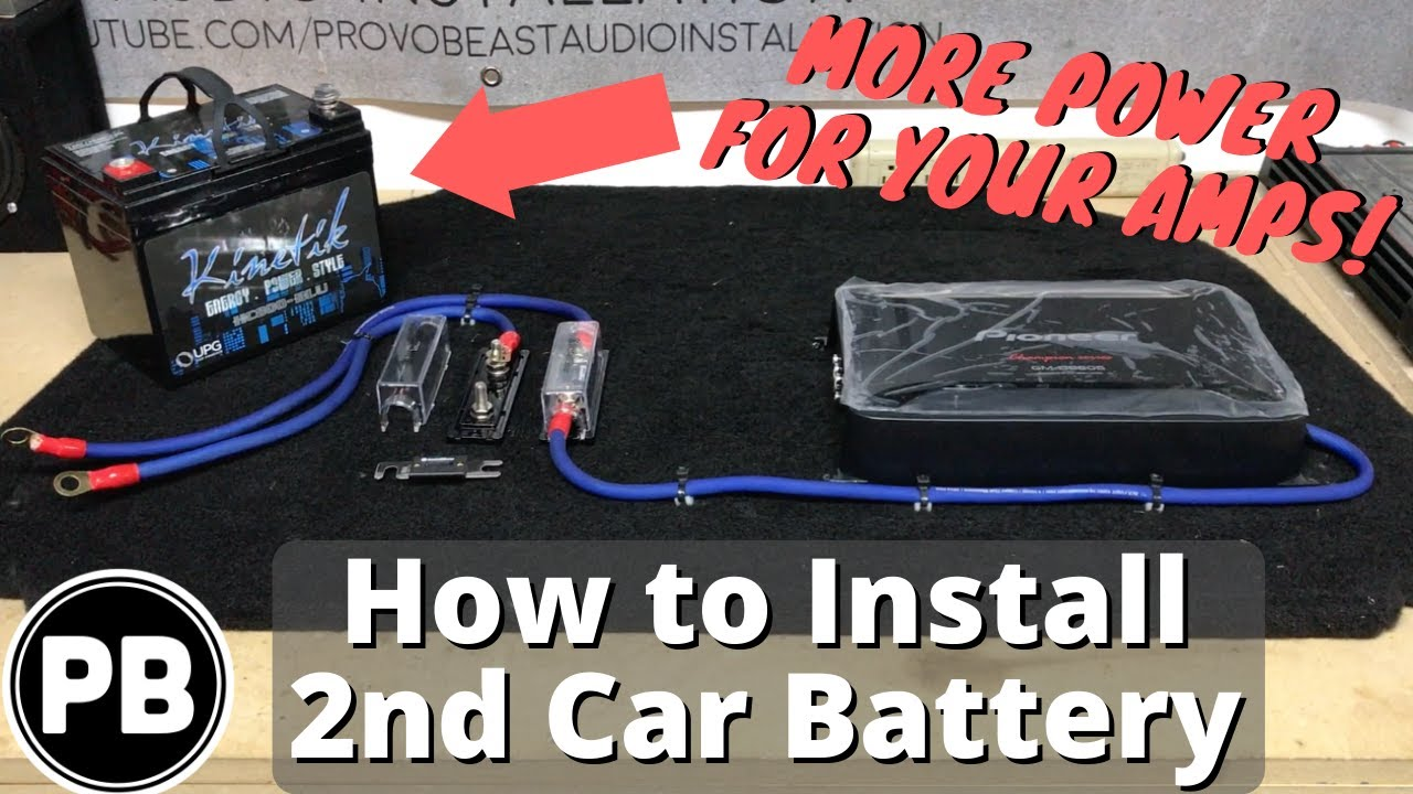 how to install a second car audio battery in your vehicle