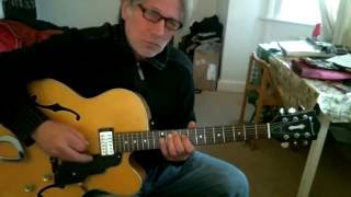 One Take Guitar Improv over ''Here to stay'' (by Pat Metheny) backing track