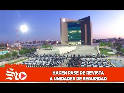 Realizan pase de revista a vehículos de seguridad en Torreón