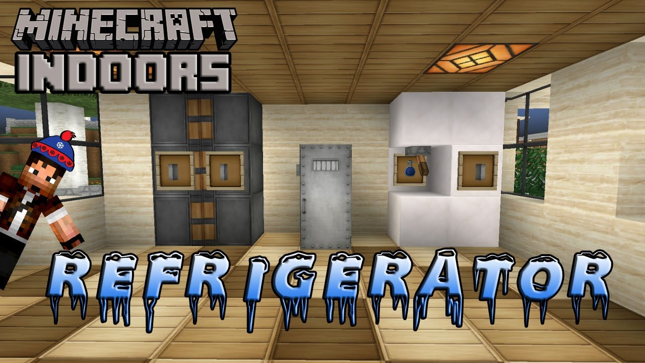 How To Build A Refrigerator Minecraft Indoors Kitchen
