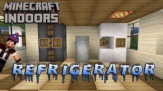 minecraft kitchen refrigerator build tutorial indoors