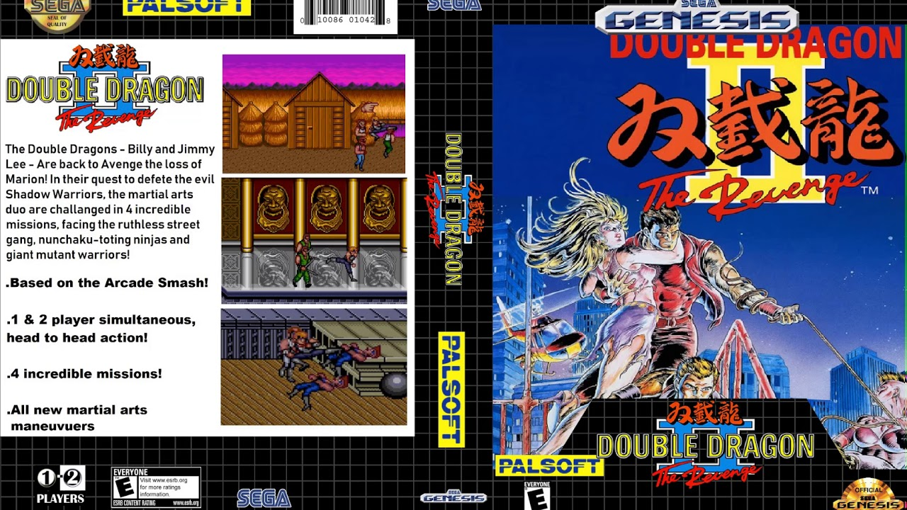 Double Dragon 2 Custom Sega Genesis Box Art Youtube