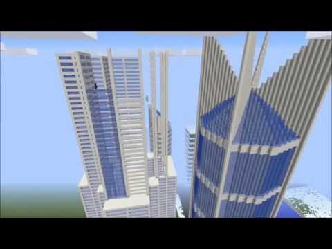 Minecraft Timelapse City School Project 2015