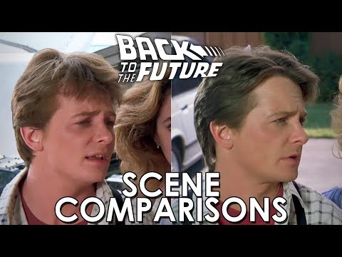 Back to the Future 1 & 2 - scene comparisons