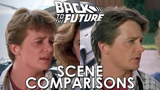 Back to the Future (1985) and Back to the Future Part II (1989)- scene comparisons