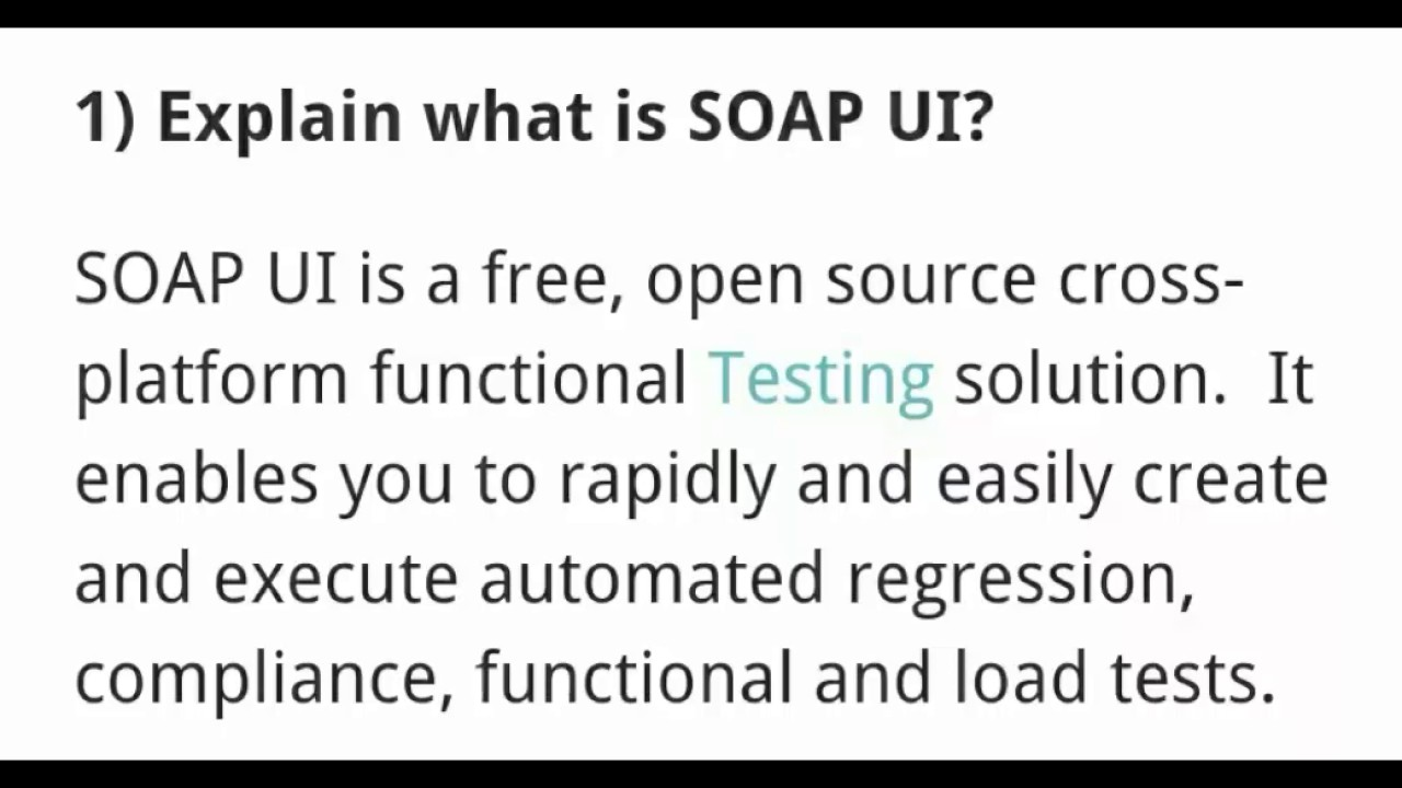 top 15 soapui interview questions and answers frequently asked questions about soapui - Frequently Asked Interview Questions And Answers