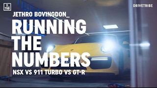 Honda NSX vs Porsche 911 Turbo vs Nissan GT-R: running the numbers