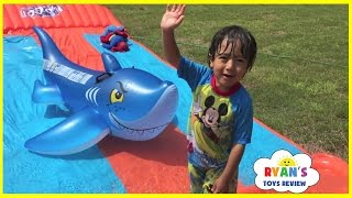 Water Slide for Kids Compilation! Inflatable water toys Kids playtime in the Pool Disney Cars