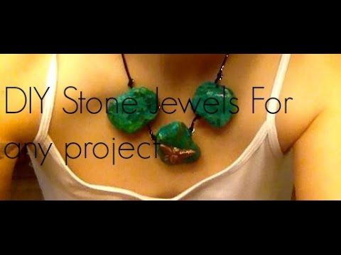 DIY Stone Jewels For Any Project (made with toilet paper)