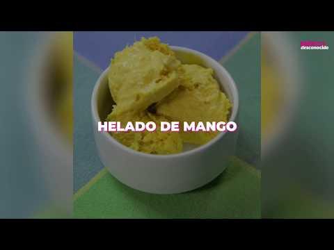 Receta de helado de mango