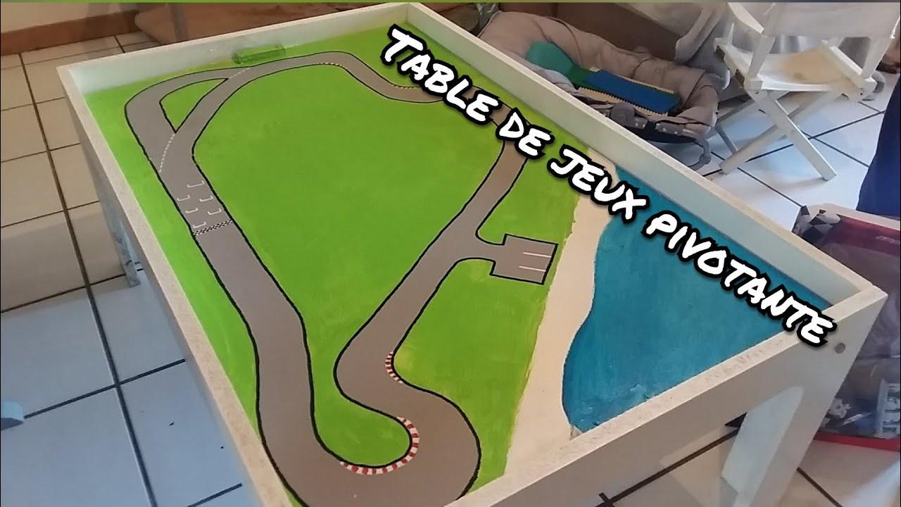Table Basse Lego Geant comment fabriquer une table de jeu pivotante pour enfants?
