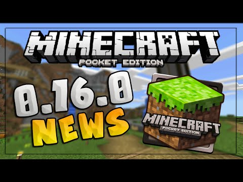 MINECRAFT PE 0.16.0 UPDATE - New MCPE 0.16.0 Map Features & Addons! - Minecraft PE (Pocket Edition)