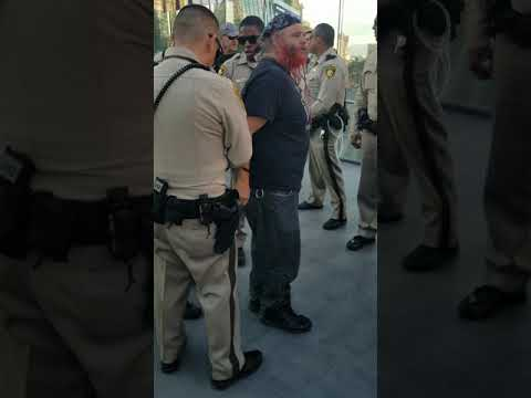 Police brutality at Las Vegas strip