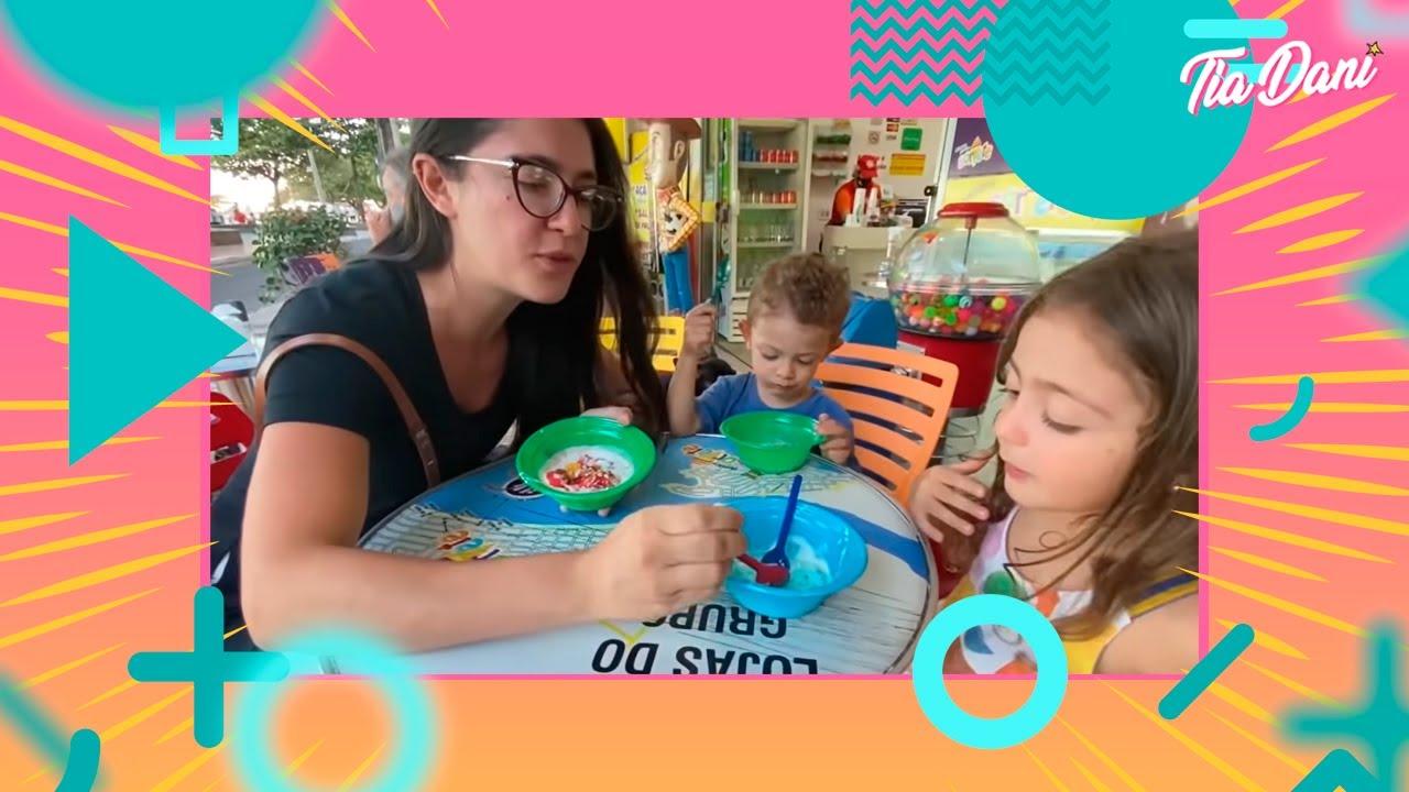 Um sorvete com a mamãe
