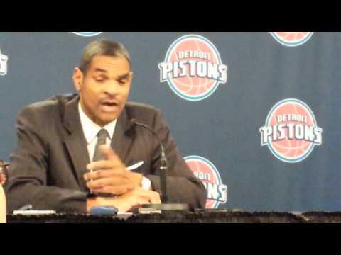 Maurice Cheeks postgame presser 12/1/13 Pistons