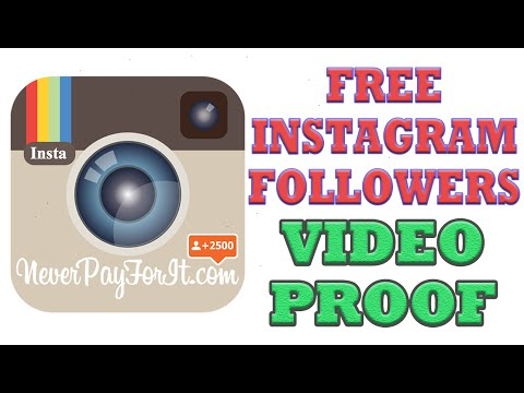 *VIDEO PROOF* Get Free Instagram Followers from Never Pay For It