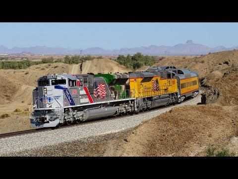 """[HD] Chasing UP 1943 """"The Spirit"""" and Multi-State Railfanning!"""