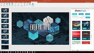How To Display And Present Worship Songs: FREE Worship Software For PowerPoint | Sharefaith.com