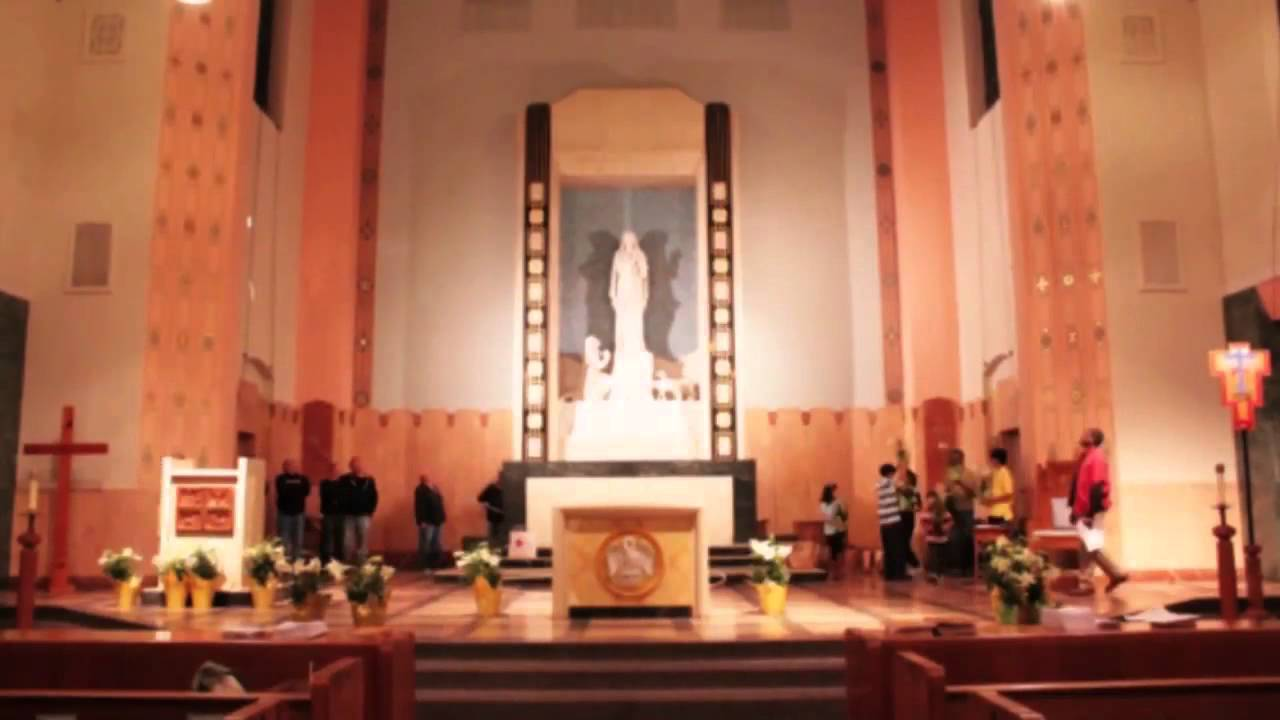 Our Lady Of Lourdes Church Decorators Easter 2012 Youtube