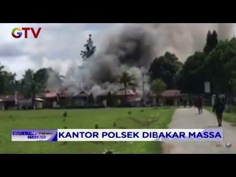 Diduga Ada Warga Yang Tertembak, Massa Mengamuk Dan Bakar Polsek Nimboran Papua #BIM 02/08