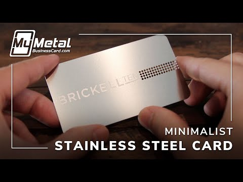 Awesome Stainless Steel Business Card | My Metal Business Card