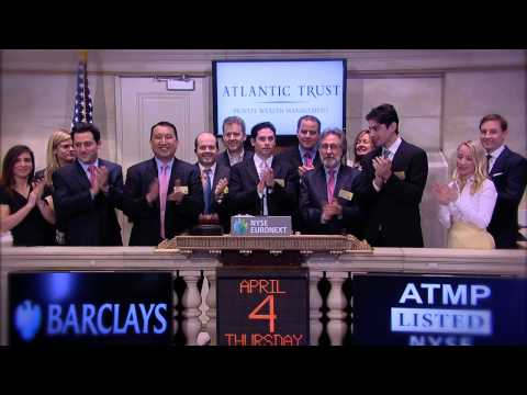 Atlantic Trust and Barclays rings the NYSE Opening Bell