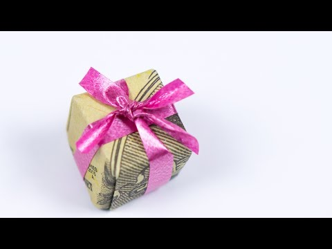 Christmas Origami Money Gift Idea 🎁 Making A Dollar Xmas Gift