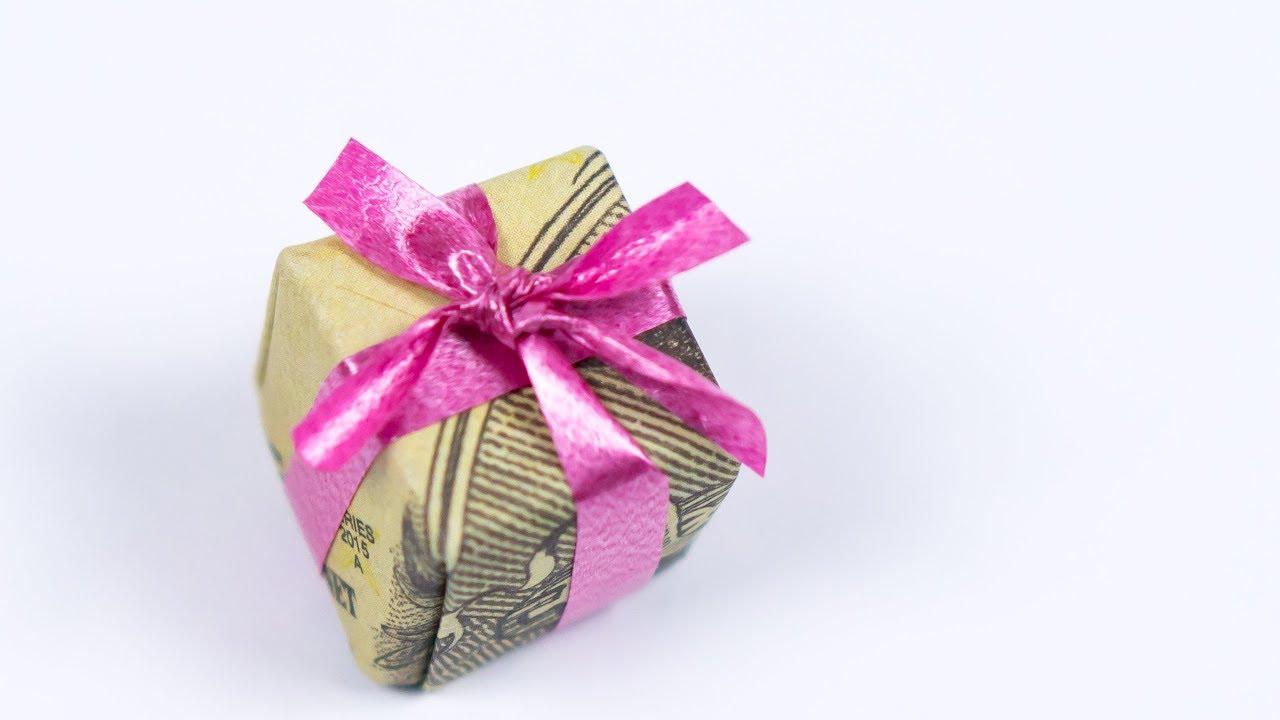 Christmas Origami Money Gift Idea Making A Dollar Xmas