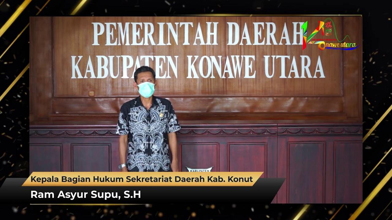 Ucapan HUT Ke-14 Kabupaten Konawe Utara Ram Asyur Supu, S.H