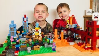 Nether Fortress Legos (21122) Family Fun Time!