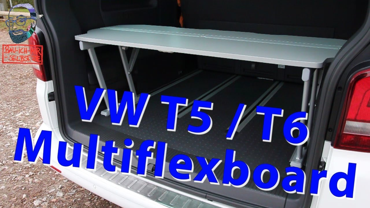 Vw Bus 2015 >> Multiflexboard VW T5 / T6 California Beach und Multivan Bettverlängerung - YouTube
