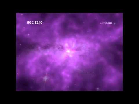 Enormous Galactic Halo Seen Around Colliding Galaxies | Video